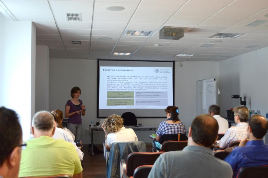 Curso de Factores Psicosociales en la Universidad Politécnica de Cartagena